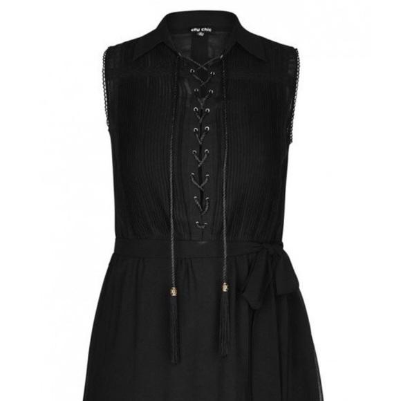 City Chic Dresses & Skirts - City Chic Lace Up Tunic Dress L 2X 20 NWT